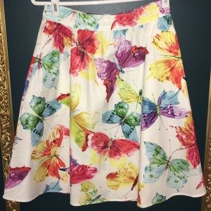Retrolicious Colorful Butterfly Cotton Skirt 🦋